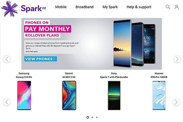 Spark Mobile NZ Redesign